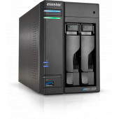 ASUSTOR Lockerstor 2-Bay NAS, Intel Quad-Core, 4GB DDR4 SODIMM , M.2 Slots (2280 NVMe SSD) x2, 2.5 G