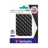 Verbatim Store'n'Go Mini SSD 1TB, USB3.2 Gen1, crni