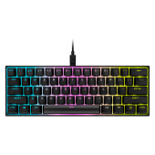 CORSAIR K65 RGB MINI 60% Mechanical Gaming Keyboard, Backlit RGB LED, CHERRY MX Red, Black PBT