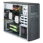 "Supermicro server chassis CSE-732D3-1200B, 3 years warranty, 4 x 3.5"" fixed drive bay, 7 full-height"