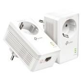 TP-Link AV1000 Passthrough Powerline KIT,  Broadcom, 1 Gigabit Ports, 1000Mbps Powerline, HomePlug A
