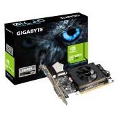 GIGABYTE Video Card NVidia GeForce GT 710 DDR3 2GB/64bit, 954MHz/1800MHz, PCI-E 2.0 x16, HDMI, DVI,