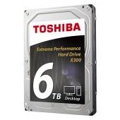 HDD desktop Toshiba X300 (3.5'' 6TB, 7200RPM, 128MB, NCQ, AF, SATAIII), bulk