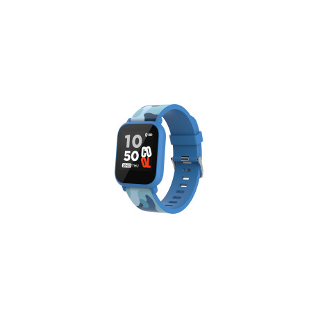 Teenager smart watch, 1.3 inches IPS full touch screen, blue plastic body, IP68 waterproof, BT5.0, m