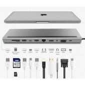 Asonic USB Tip C, 11u1,HDMI/VGA/SD/RJ45/U3
