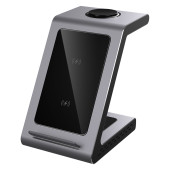 Prestigio ReVolt A8, 3-in-1 wireless charging station for iPhone, Apple Watch, AirPods, wilreless ou