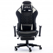 Gaming chair Bytezone CARBON, massage cushion / Bluetooth speakers (black)