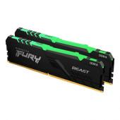Kingston FURY Beast  RGB 16GB (2x8GB) DDR4 3600 MHz