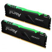 Kingston DDR4 FURY Beast RGB, 3200MHz, 2x16, 32GB