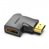 Vention HDMI 90 Degree Male to Female Vertical Flat Adapter Black