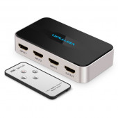 Vention HDMI Switch 3 In 1 Out Gray Metay Type