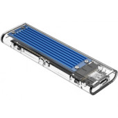 Orico vanjsko kućište M.2 SSD, NMVe/SATA (10Gbps), M-key+B-key, USB3.1, plavo (ORICO TCM2M-C3-BL-BP)