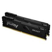 Kingston DRAM 32GB 3200MHz DDR4 CL16 DIMM (Kit of 2) 1Gx8 FURY Beast Black EAN: 740617319873
