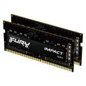 Kingston DRAM 32GB 3200MHz DDR4 CL20 SODIMM (Kit of 2) 1Gx8 FURY Impact EAN: 740617318401