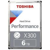 HDD Desktop Toshiba X300 (3.5'' 6TB, 7200RPM, 256MB, SATA 6Gb/s), bulk