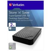 """Externi hard disk Verbatim USB 3.0 3,5"""" gen2 2TB black 47683"""