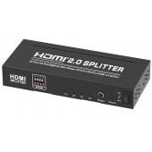 Transmedia 4K HDMI 2.0 Splitter, 1 input, 4 output