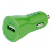 Auto punjač za Smartphone, 1000mA strujni adapter sa USB priključkom, zeleni