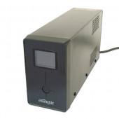 Gembird UPS with LCD display, 850 VA, black