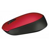Logitech M171 RF bežični + USB Optički 1000DPI Ambidekster Crno, Crveno miš