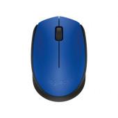 Logitech M171 RF bežični + USB Optički 1000DPI Ambidekster Crno, Plavo miš