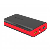 Powerbank Real Power PB6k Color Edition, 6000mAh crno-crveni