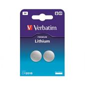 Verbatim CR2016 Lithium baterija, 3V (2 kom./pakiranje)