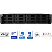 Synology RS2418+ RackStation 12-bay NAS server, Intel Atom Quad Core 2.1GHz, 4GB DDR4, Hot-Swap HDD, 4×G-LAN, Link Aggregati