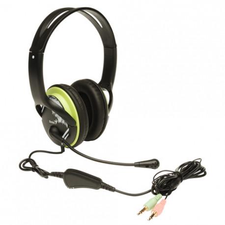 Genius HS-400A set, slušalice i mikrofon, zelene