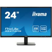"IIYAMA 24"" ProLite X2474HS-B1 (23.6"") 16:9 Full HD (1920×1080) VA LED, 4ms, 250 cd/m2, VGA/HDMI/DP, HDCPI, zvučnici, crni"