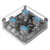 Orico 4-portni USB3.0 hub, prozirni (ORICO MH4U-U3-03-CR)