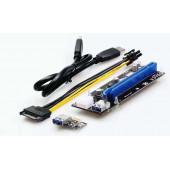Asonic PCI-E Usb3.0 6Pin 1x na 16x Extender Riser
