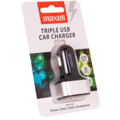 Maxell trostruki USB auto punjač