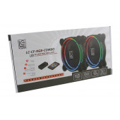 LC-Power RGB kit 2 x 120mm ventilator, LED traka