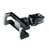 Auto punjač PNY 3.4A Micro USB, crni + Stalak za smartphone za ventilaciju, THE ROAD KIT