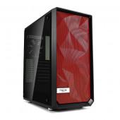 Fractal Design Meshify C prednja stranica crvena
