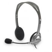Logitech H110 slušalice s mikrofonom, stereo, siva