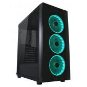LC-Power 995B - Light Box TG, RGB, crno bez nap.