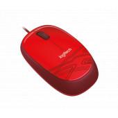 Logitech M105 žičani optički miš, crvena