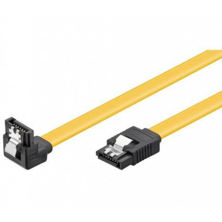 NaviaTec HDD SATA cable 1.5 3 6 Gbit s 7 pin SATA L-type plug 0,3m