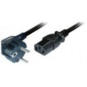 Transmedia Power Cable Schuko - angled IEC 320 plug 2m