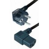 Transmedia Power Cable Schuko -angled IEC 320 plug 2m