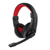 Gembird Gaming headset with volume control, black red