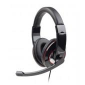 USB stereo headset, glossy black