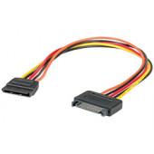 Roline SATA naponski produžni kabel, 30cm