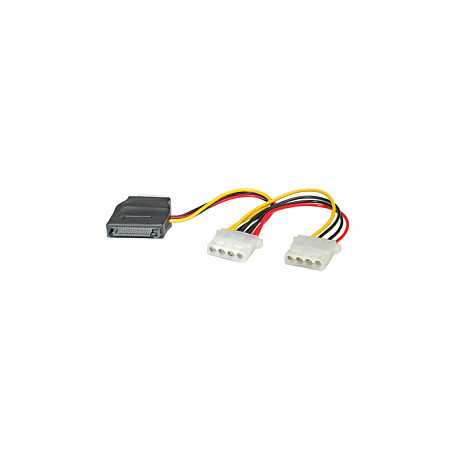 Roline interni Y-naponski kabel, SATA na 3×4-pin