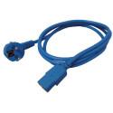 Roline naponski kabel, ravni IEC320-C13 konektor, plavi, 1.8m