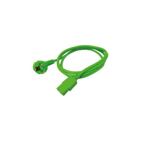 Roline naponski kabel, ravni IEC320-C13 konektor, zeleni, 1.8m