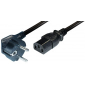 Transmedia Power Cable Schuko -IEC 320 plug 2,5m