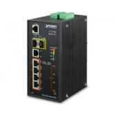 PLANET IP30 Industrial L2+/L4 4-port 60W 1000T Ultra PoE+ 1-port 1000T + 2-port 100/1000X SFP Full Managed Switch